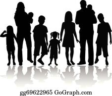 Happy extended asian family with many children. Clipart | k51330594 |  Fotosearch