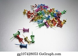 Push Pins Stock Photos - GoGraph