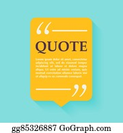 eps vector quote blank template quote bubble print design quote