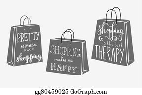 Retail Therapy Clip Art - Royalty Free - GoGraph