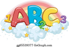 Vector Illustration - Book of abc and 123. EPS Clipart ... (283 x 194 Pixel)