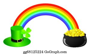 Rainbow Pot Gold Clip Art Royalty Free Gograph