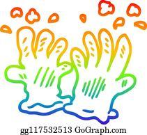 Garden Gloves Clip Art , Royalty Free , GoGraph