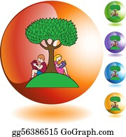 reading under a tree clipart - Clip Art Library