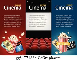 vector illustration movie cinema premiere poster design vector
