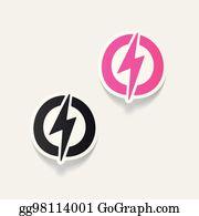 Clip Art Lightning Bolt - Royalty Free - GoGraph