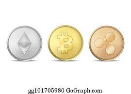 vector illustration bitcoin logo templates set cryptocurrency