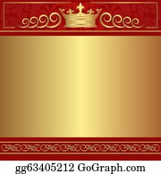 Background Red And Gold