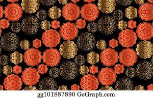 chinese new year celebration red and gold pattern in china style vector illustration for card invitation chinese