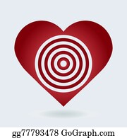 Vector art bullseye heart eps clipart gg71193986 gograph cupids archery target red and white heart target icon love aim concept thecheapjerseys Images
