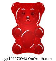 0d50b76ce Red gummy bear candy isolated on white background