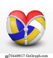 Free Volleyball Cliparts Heart, Download Free Clip Art, Free Clip Art on  Clipart Library