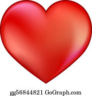 Red Heart Clip Art - Royalty Free - GoGraph