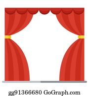 eps vector realistic red velvet stage curtains scarlet theatre