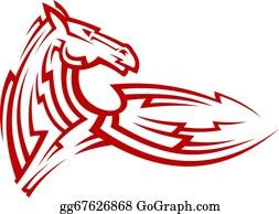 b349d30bc Horse Tattoo Clip Art - Royalty Free - GoGraph