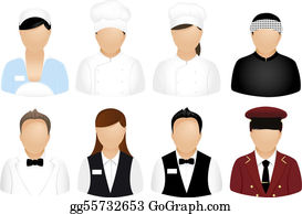 Business People Icons Restaurant