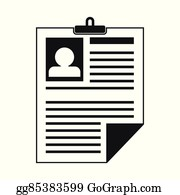 Black And White Resume Clip Art Royalty Free Gograph