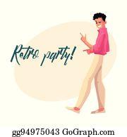 40e6ec24c0af ... aerobics girl · Retro disco party invitation