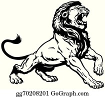 Black And White Lion Clip Art Royalty Free Gograph Are you searching for roaring lion outline png images or vector? black and white lion clip art royalty