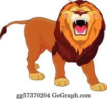 Lion Roar Clip Art Royalty Free Gograph