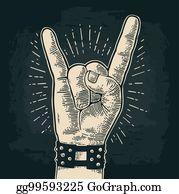 Clip Art Métal Lourd Diable Cornes Signe Main Libre De