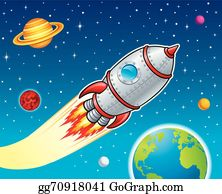 Planet outer space. Clip art royalty free