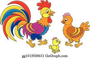 Funny chicken in a badge stock vector. Illustration of chicken - 77004296
