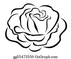 Rose Clip Art - Royalty Free - GoGraph