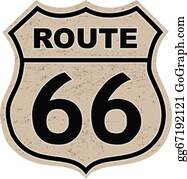 Route 66 Clip Art - Royalty Free - GoGraph