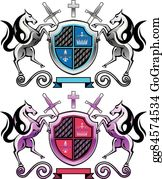 Royalty Free Family Crest Clip Art - GoGraph