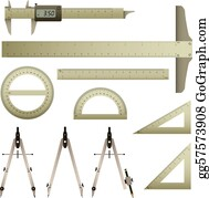 Ruler Mathematics Instrument