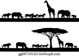 Free Black and White Animals Outline Clipart - Clip Art Pictures - Graphics  - Illustrations