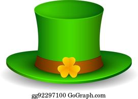 b0c44f887c3552 Saint Patrick's hat with clover. Isolated on white background. Vector  Illustration, eps 10