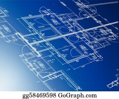 Vector stock architectural blueprint background vector clipart blueprint sample of architectural blueprints malvernweather Image collections