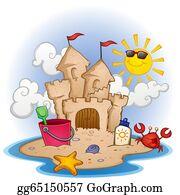 Sand Castle Clip Art - Royalty Free - GoGraph