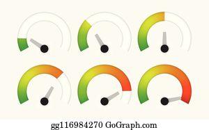 Royalty Free Gauge Chart Clip Art - GoGraph