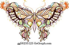 A Pretty Butterfly With Pink And Purple Wings and Fires Of Hell Backgr –  Clipart Cartoons By VectorToons