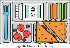 School Lunch Clip Art - Royalty Free - GoGraph
