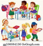 School Canteen Clip Art Royalty Free Gograph