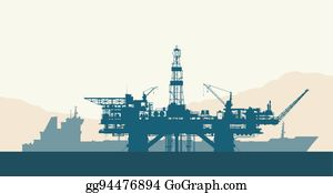 Drilling Rig Clip Art - Royalty Free - GoGraph