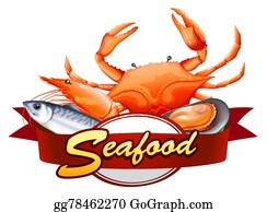 Seafood Clip Art - Royalty Free - GoGraph