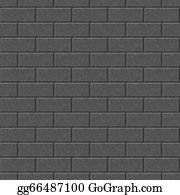 Brick Wall Grungy Frame Seamless Black Background