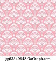 seamless pink white damask stock illustration gg63349848