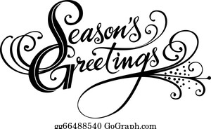vector illustration seasons greetings calligraphy stock clip art rh gograph com seasons greetings clip art free season's greetings clipart