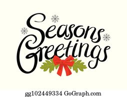 Seasons Greetings Clip Art - Royalty Free - GoGraph