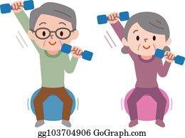 senior exercise clip art  royalty free  gograph