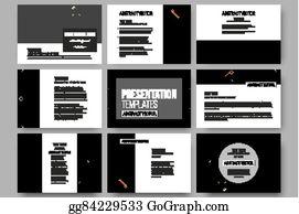 e2408ff6f42b Set of 9 templates for presentation slides. Material Design. Colored vector  background