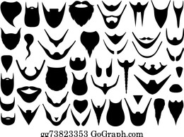 Beard goatee. Clip art royalty free