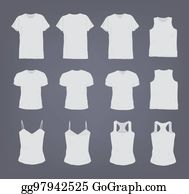 5f32c3d38557b Set of different realistic white female and male t-shirt. Front and back  view