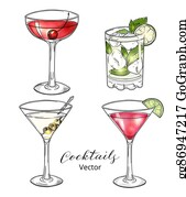 Manhattan Cocktail Clip Art Royalty Free Gograph